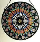 Decorative Hand Painted Stained Glass Window Sun Catcher Roundel In A Strasbourg