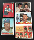 1959 To 1961 Topps Baseball Card Lot - (5 Cards) - EX Condition