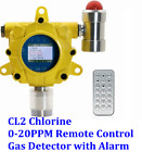CL2 Chlorine Fixed Gas Detector with Remote Control Alarm Monitor 0 20PPM