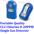 CL2 Chlorine Single Gas Detector Gas Monitor LED Display Portable Alert 0 20PPM