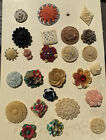 Incredible Selection Of Realistic Celluloid Flower Buttons Gorgeous