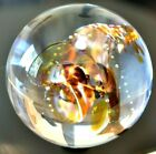 MARIANNE DEGENER GLASS MARBLE 3145 CONCH SHELL CONTROLLED AIR TRAP GORGEOUS