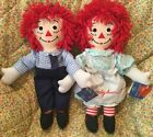 Vintage New Raggedy Ann  Andy 80th 85th Birthday Dolls w Tags Applause Embroid