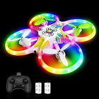 tech rc Drone for Kids with LED Lights Remote  Hand Controlled RC Quadcopter