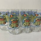 Drinking Glasses 16 oz Clear Apples Blue Band Country Kitchen Fruit Set of 7