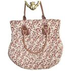 DEUX LUX Shirred Multicolor Fabric Snap Tote Hand Bag Purse NEW