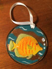 Peggy Karr Signed  Fish Yellow Tang  Fused Art Glass Ornament