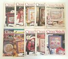 Cross Stitch  Country Crafts Magazine LOT OF 10 ISSUES 1992  1993