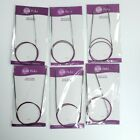 Lot Of 6 Knit Picks Classic Circular Knitting Needles 32 inches size 0 1 2 3