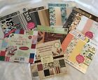 Lot Of 8 12x12 Scrapbook Paper Pads Over 16 Lbs Double  Single Sided