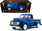 1948 FORD F 1 PICKUP TRUCK BLUE 1 18 DIECAST MODEL CAR BY ROAD SIGNATURE 92218