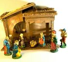 Vtg Sears Nativity Creche Set Made In Italy 7 Oxolite Figures + 3 With Box EUC
