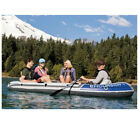 Intex Excursion Inflatable Boat 4 Person Rugged Vinyl Outdoor Water Sports New