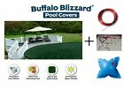 Buffalo Blizzard Deluxe Round Swimming Pool Winter Cover with 4 x 4 Air Pillow