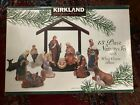 Kirkland Signature 75177 Nativity 13 Pieces opened BOX packages inside sealed