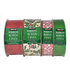 Kirkland Signature Wire Edged Ribbon Traditional Assortment 4 pack C Gift