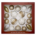 Hand Decorated Glass Ornaments Gold White 18 piece C Christmas Tree Decor