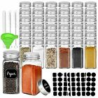 36 Pack 4oz Glass Spice Jars Bottles Square Spice Containers with Silver