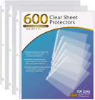 KTRIO Sheet Protectors 85 x 11 inch Clear Page Protectors for 3 Ring Binder Pl