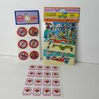 Lot of 3 VTG 1980s 3D Puffy Stickers Car Racing Funboard NO Stickers Dog Heart
