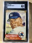 1953 Topps #82 Mickey Mantle New York Yankees SGC Authentic