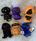 SET OF 6 HALLOWEEN BEANIE BOOS MINT WITH TAG GRINNER COUNT HYDE GEORGE OZZY MASK