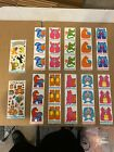 Lot of 30 Vintage Puzzle Pairs Stickers with Two Fantasies Birthday Stickers