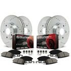 K498 Powerstop 4 Wheel Set Brake Disc and Pad Kits Front  Rear New for 3 Series