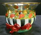 Mackenzie Childs Heirloom Circus Rose Striped 525x 775 Rimmed Bowl Excellent