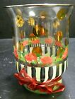 Mackenzie Childs Heirloom Circus Rose Striped Footed Vase 625x 475 Excellent