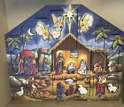 Wooden Nativity Advent Calendar Box Traditions by Byers Choice Ltd 2012