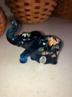 FENTON GLASS 3 1 2 ELEPHANT INDIGO BLUE HP BY M YOUNG FOR LENOX ONLY