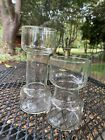 pyrex MCM corning ware rare forced bloom bulb vases set of two