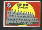 1959 Topps York Yankees High Number Team Card WITH ROBERTO CLEMENTE Corsair BACK