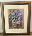 Palm Tree Framed Wall Art Picture 33x285 Bronze Frame Planted Window Glass