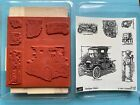 Stampin Up Antique Auto Rubber Stamps Roadster Masculine Fathers Day Route 66