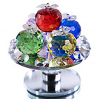 37in Height 5 Colors Crystal Faceted Apples Ornament Small Glass Apple with