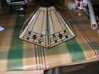 Vintage Arts  Crafts Stained Glass Lamp Shade