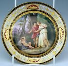 Meissen Plate Picture Painting Plate With Adonis Knauf Time Um 1860