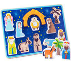 Piece On Earth Nativity Kids Puzzle Board with Chunky Shapes New