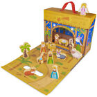 My First Noel Nativity Scene Story Box Kids Wooden Toy Playset with 15 Figures