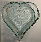Recycled Glass Large Heart Shaped Bowl Made In Spain San Miguel
