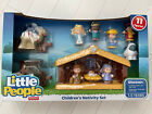 Fisher Price Little People Nativity Set Christmas Childrens Set 11 Figures New