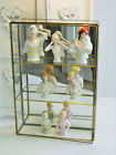 Vintage Mirrored Brass  Glass Table Top Display Cabinet Case Hang or Stand