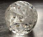 Vintage Hand Cut Watford Crystal Glass Ball Paperweight Unused Quality Item