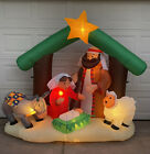 Gemmy Christmas Inflatable Nativity Scene Lights Blowup Decoration 6 +