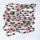 Shiny Brite Vintage Christmas Mercury Glass Garland with Pearl White Beads 12 ft
