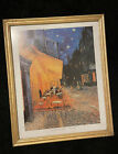 30+ year old Van Gogh THE CAFE framed in glass by crystal art gallery 215x 175