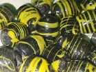 Lot of 18 Vintage Antique Venetian Glass Wound Combed Beads 1920s