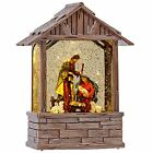 Nativity Lighted Water Lantern Musical Snow Globe with Swirling Glitter